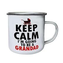 Keep Calm I'm Going to be a Grandad  Retro,Tin, Enamel 10oz Mug jj17e - $13.13