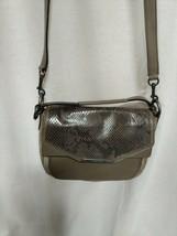 Coach Taylor 2- Way Suede Exotic Python Crossbody Handbag Bronze - $49.49