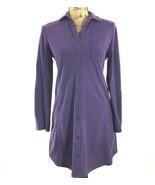 Ralph Lauren Tunic Shirt Legging Dress Purple Sm S Pocket Button Front L... - $24.17