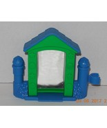 Fisher Price Current Little People Blue & green funhouse mirror FPLP Acc... - $9.50