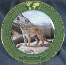HIS DOMAIN Kingdom Great Cats Charles Frace Collector Plate & damaged COA - $19.97