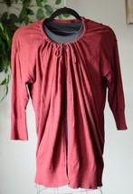 Eddie Bauer Women's Cotton Blend Sweater Size XL Maroon 3/4 Sleeve - $24.75