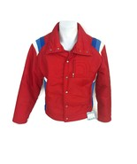 Vintage 1970s 1980s Roffe Men's Ski Jacket Red White Blue Retro Made USA... - $56.07