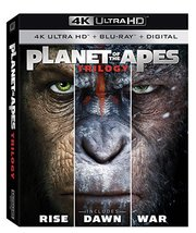Planet of the Apes Trilogy - Rise, Dawn, War (4K Ultra HD +  Blu-ray)