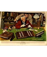 """The Collector"""" Norman Rockwell Limited Edition Franklin Mint Canvas Prin... - $45.00"""