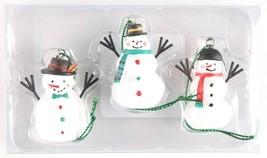 Wondershop Trend Trim 3ct Mini Wooden Snowman Ornaments NEW