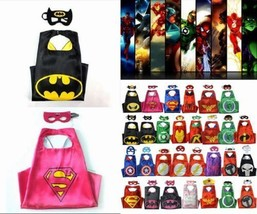 HOT Superhero Cape for kids birthday party favors and ideas (1 cape+1 mask) - $5.99