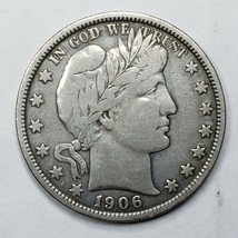 1906 Silver Barber Half Dollar Coin Lot A 190