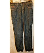 Arizona Jeans Women Girls Juniors Sz 14 Reg. Dark Blue Skinny Decorative - $11.44