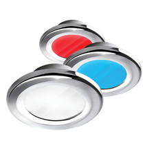 i2Systems Apeiron A3120 Screw Mount Light - Red, Warm White  Blue - Chrome Finis - $116.00