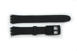 12mm Ladies Black Soft PVC Replacement Watch Band Strap fits SWATCH watches - $7.61