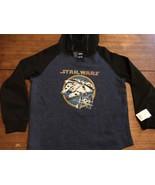STAR WARS TIE FIGHTER MILLENIUM FALCON Hooded Sweatshirt XL NEW NWT - $25.64