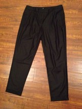 H & M Womens Dress Capri Career Cropped Size 10 Black Worn ONCE -Waist 3... - $14.15