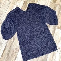 BCBG Maxazria Blue Knit Sweater Top Medium - $37.83