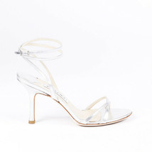 Jimmy Choo Metallic Leather Ankle Strap Sandals SZ 37.5 - $235.00
