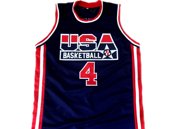 Christian Laettner #4 Team USA Basketball Jersey Navy Blue Any Size