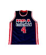 Christian Laettner #4 Team USA Basketball Jersey Navy Blue Any Size - $44.99+