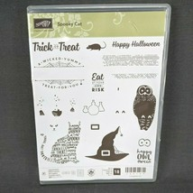 Stampin Up Spooky Cat Stamp Set Halloween Trick or Treat Owl Witch's Hat... - $24.14