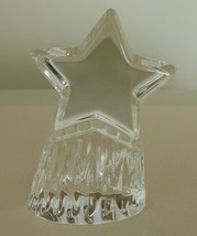 """STEUBEN CRYSTAL """"SHOOTING STAR"""" PAPERWEIGHT SIGNED 4"""" - $100.00"""