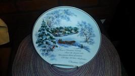 1980 Commemorative Christmas Plate - Porcelain - American Greetings Corp - $5.85