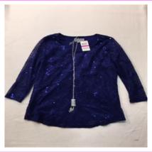 JM Collection Women's Petite Crew Neck Long Sleeve Blouse Top - $13.71