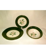 Homer laughling jade rose serving lot oval plate bowl round plate green VG - $40.00