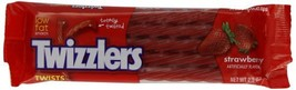 TWIZZLERS Twists, Strawberry Flavored Licorice Candy, 2.5 Ounce Packet Pack of 3