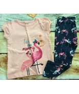 Gymboree 2T Set Mix N Match Fab Like Mommy Flamingo Top Navy Leggings NWT - $15.88