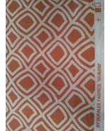 Duralee Kilburn melon print cotton fabric by the yard pillows home decor... - $63.86