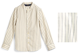 Ralph Lauren Dobby-Stripe Cotton Shirt, Cream Girl's size 14 - $26.72