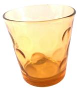 "Yellow Golden Amber 3"" Vintage Dots Raised Circles Design Water Juice Ba... - $6.85"