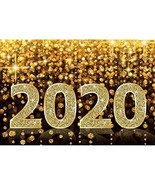 YongFoto 10x9ft Happy New Year Backdrop 2020 Glitters Bokeh Photography Backgrou - $41.06