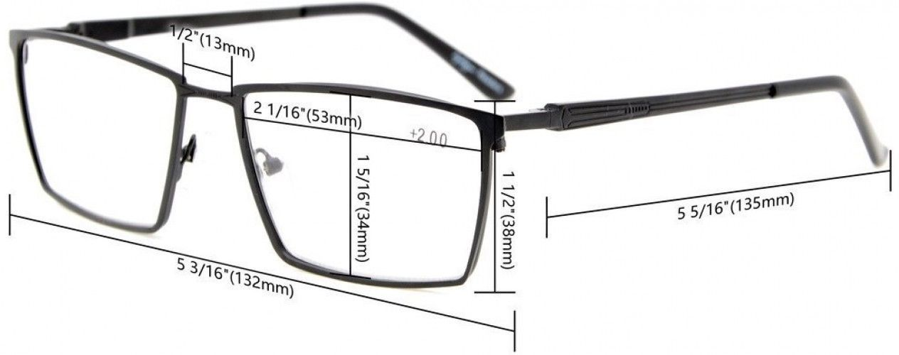 Eyekepper 4-Pack Mens Reading Glasses Spring Hinges Included Tinted Lens +0.75