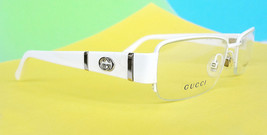 GUCCI Frame Glasses GG2878 STAINLESS STEEL 52-17-135 White MADE IN ITALY... - $165.00