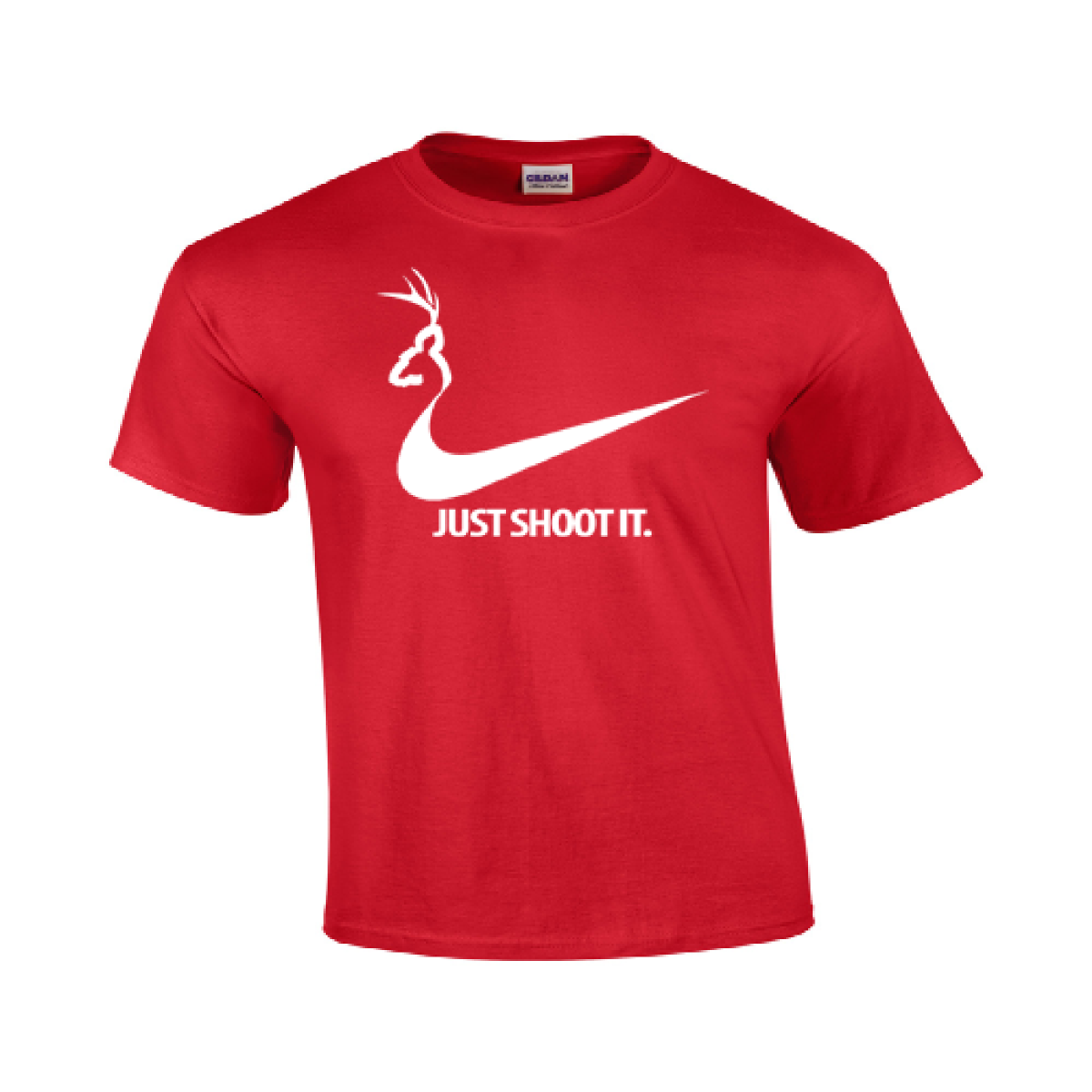c141e53b Just Shoot It T Shirt Funny College Humor Hunting Nike Duck Logo Mens  Gildan 117 - $12.74 - $15.29