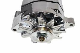 SB Ford 65-89 Mechanical Fuel Pump Two Valve M1G Style Alternator 110 Amp Chrome image 4