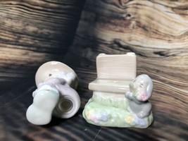 MIB Adorable Precious Moments Girl on Bench with Puppy Salt & Pepper Sha... - $9.61