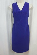 Anne Klein Dress Sz 2 Ultra Violet Purple Sleeveless Business Cocktail P... - $69.26