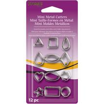Premo Sculpey Mini Metal Cutters 12/Pkg-Geometric - $5.39
