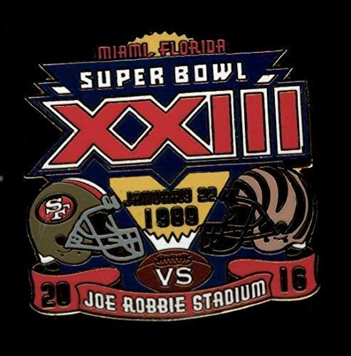 49ers vs. Bengals Super Bowl 23 Final Score Pin Willabee & Ward SB XXIII