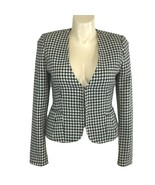 White House Black Market 12 Large Blazer Houndstooth Tweed Pocket Jacket... - $49.95