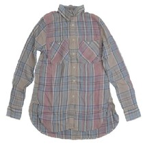 Denim & Supply Ralph Lauren Plaid Cotton-Linen Twill Shirt Beige Sz. X-S... - $39.59
