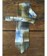 1996 Jerry Garcia Tan Grey Scales Collection Twenty Nine 100% Silk Tie N... - $9.70