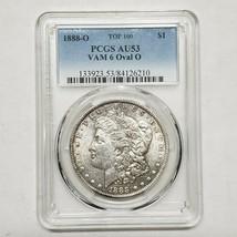 1888O Morgan Silver Dollar Coin PCGS AU53 TOP 100 VAM 6 Oval O Lot A 117