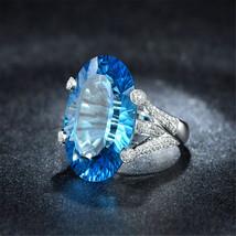 Fashion Lady Sapphire Ring - Light Blue Us Size 6 thru 10 - $30.00