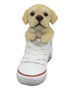 Paw-Star Pups Lifelike Yellow Labrador Puppy Dog in Sneaker Chucks Shoe ... - $35.99