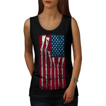 Gun Flag America Cool USA Tee America Women Tank Top - $12.99