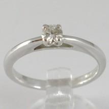 Anillo Oro Blanco 750 18K, Solitario, Bisel Elevado, Diamante Quilates 0.20 image 1