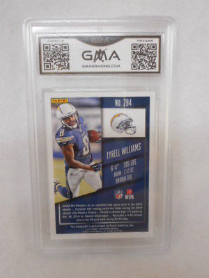 2015 Panini Contenders #284 Tyrell Williams Auto Rookie Ticket GMA Gem Graded 10