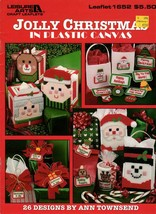 Jolly Christmas in Plastic Canvas  26 Designs Leaflet 1652 Santa Tissue Box Cove - $7.95